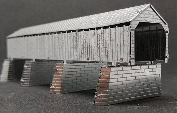Handbuilt Metal Replica Model Cynthiana Kentucky Covered Bridge