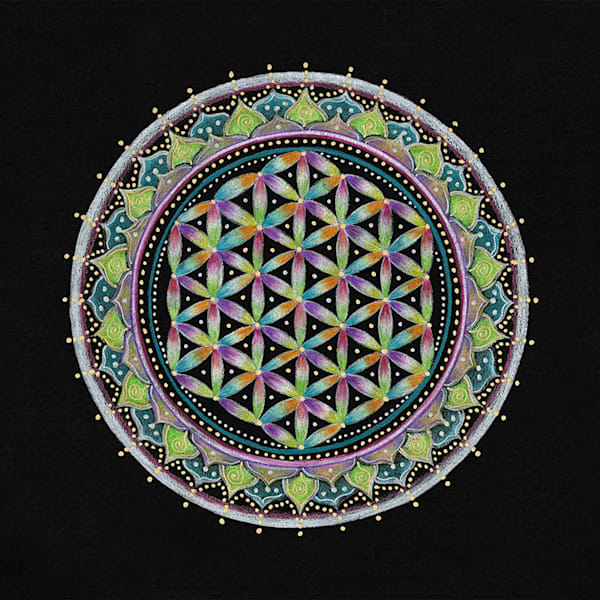 Flower of Life fine art print by Laural Virtues Wauters.