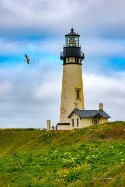 Yaquina Lighthouse Flyby (1810130LNND8) Photograph for Sale as Fine Art Print