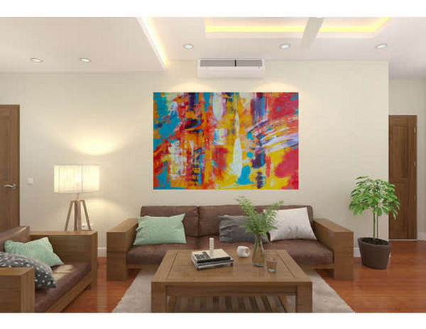 Check out beautiful one of a kind colorful and textured abstract wall art.