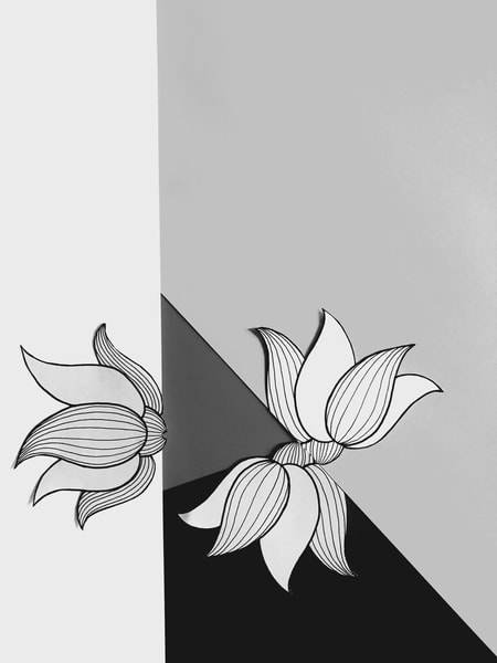 Odeta Xheka Visuals | Flower art print inspired by Georgia O'Keeffe