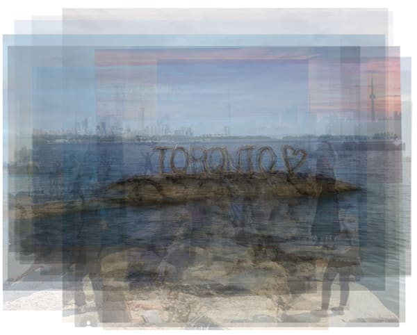 Overlay art – contemporary fine art prints of the Toronto Driftwood sign.