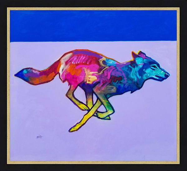 Wolf Running | John Nieto Original Painting