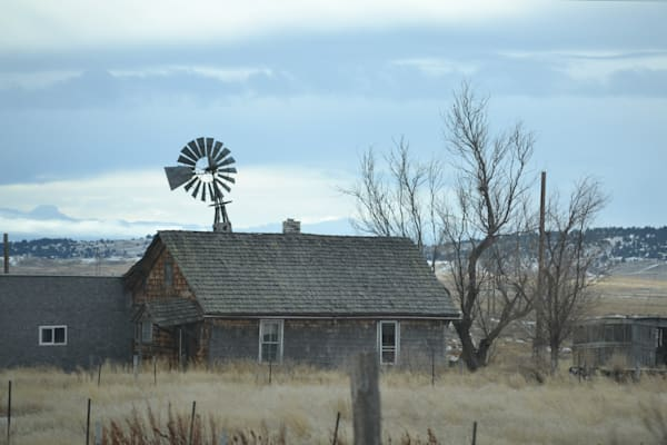 Photograph of a house and windmill for sale as Fine Art