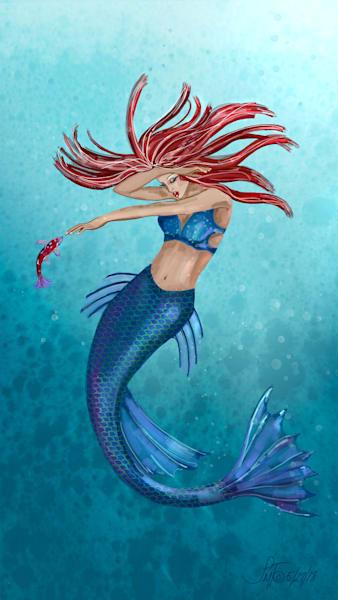 Mermaids and Fairies Art Prints and Paintings by Leslie's Art Studio