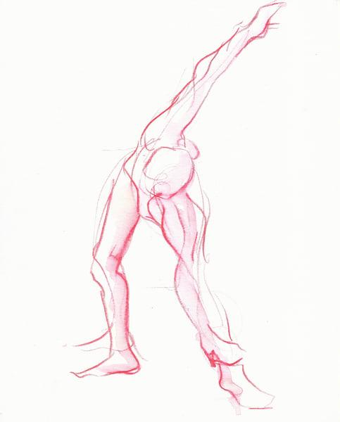 Raspberry Pink Stretch Drawing