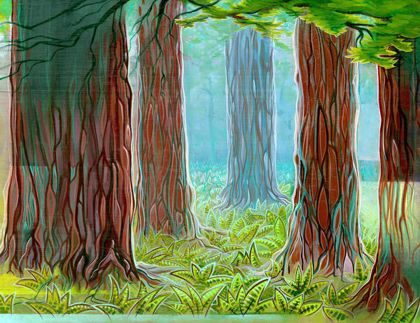 Redwoods Painting by Spencer Reynolds