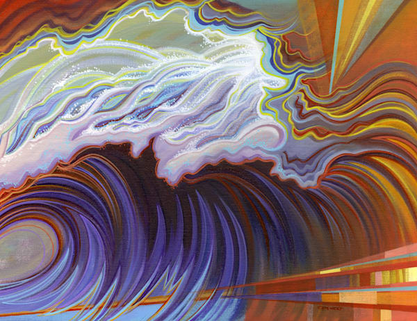 Torrent Painting by Spencer Reynolds