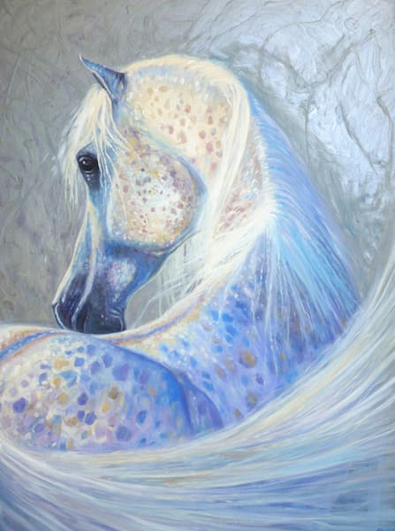 Print Of Silver Mare Art | Gill Bustamante Artist