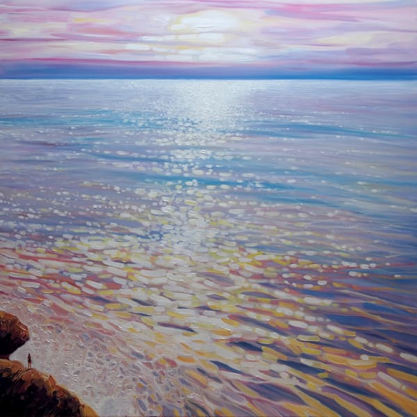 Sea watching-a sunset over the sea seascape