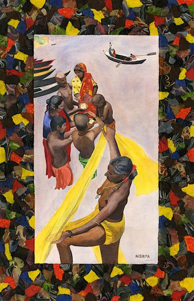 Woman with a Yellow Sari
