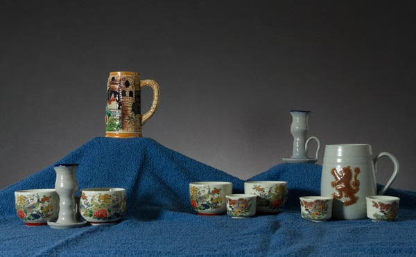 A Fine Art Photograph of Mugs and Chinaware by Michael Pucciarelli