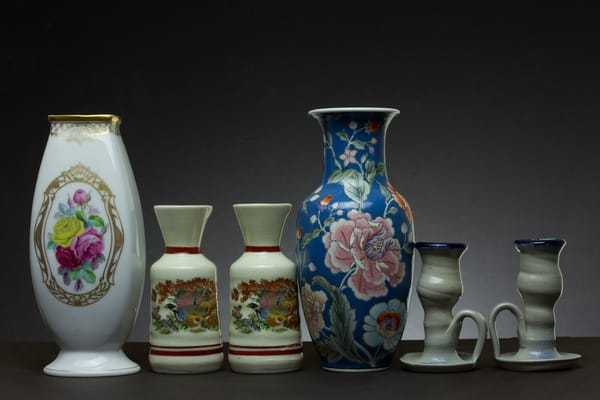 Fine Art Photographs of Vases with Chinaware by Michael Pucciarelli