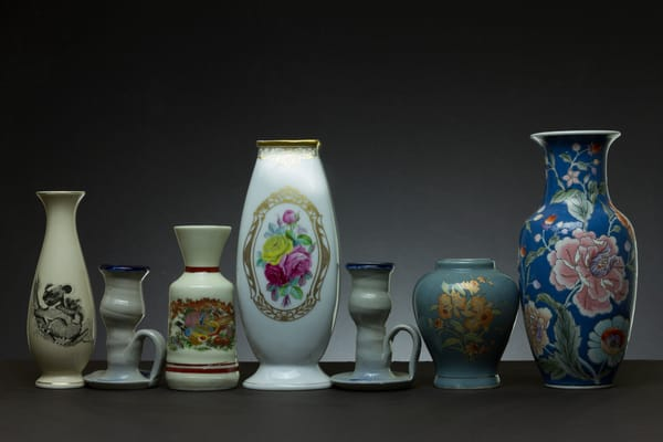A Fine Art Photograph of Vases and Chinaware by Michael Pucciarelli