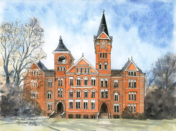 Samford Hall, Auburn Univ. Art by FAM 2018