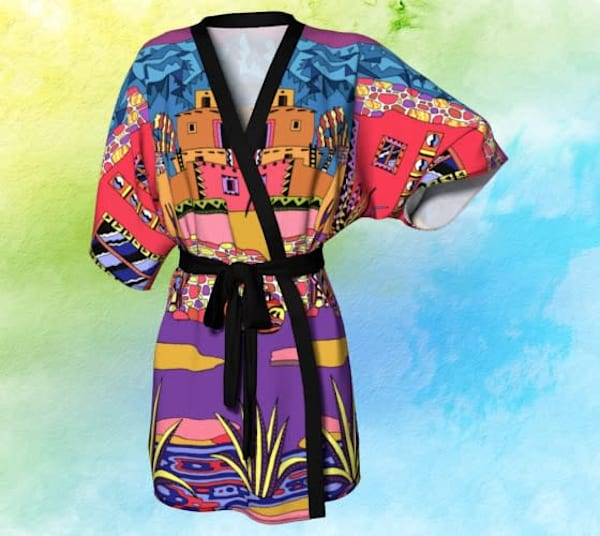 Hopi Village Kimono Robe for sale