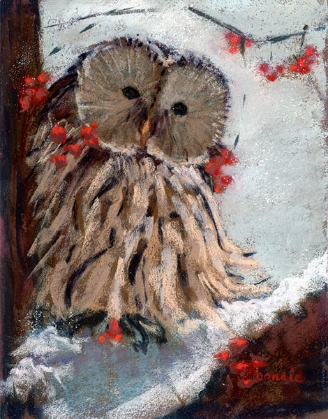Snowy Day Owl Art | Digital Arts Studio / Fine Art Marketplace