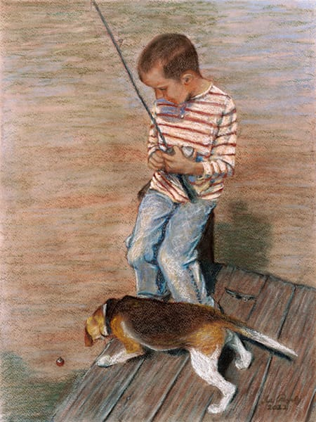 A Boy And His Dog Art | Digital Arts Studio / Fine Art Marketplace