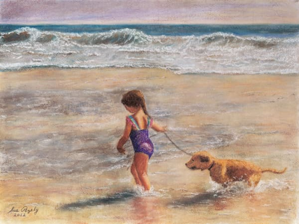 Best Friends At The Beach Art | Digital Arts Studio / Fine Art Marketplace