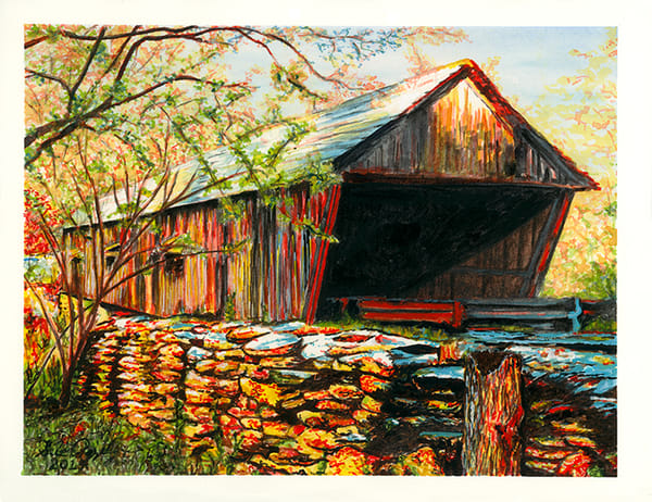 Concord Road Covered Bridge Art | Digital Arts Studio / Fine Art Marketplace