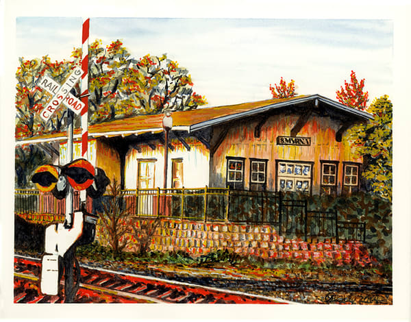 Smyrna Railroad Station Art | Digital Arts Studio / Fine Art Marketplace