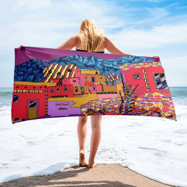 Hopi Village Beach Towel