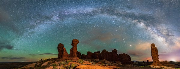 Milky Way over the Garden of Eden