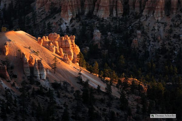 Dramatic light on Bryce Canyons Hoodoos/Thomas Schoeller Utah fine art photography