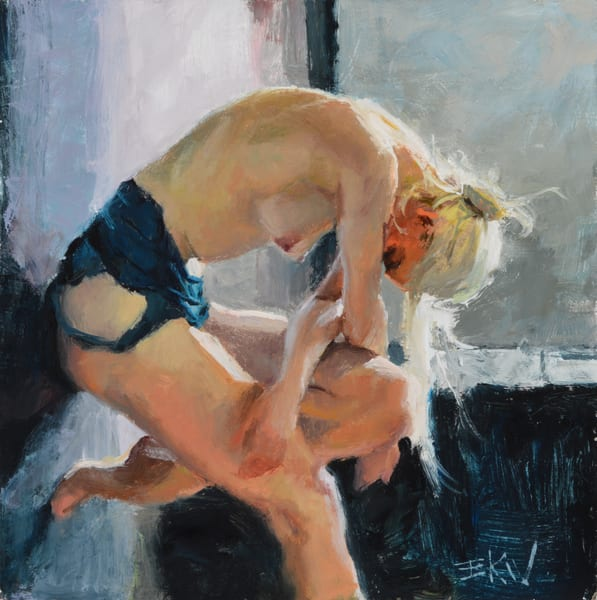 """Resting Nude"" giclee print by Eric Wallis"