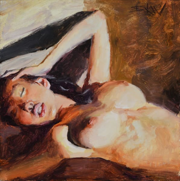 """Sultry Warm"" 6x6in. oil on panel by Eric Wallis"