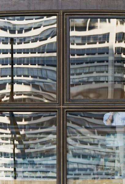 Wannamaker Entrance Philadelphia. Window Reflection Photographic Art. Richard Carlton London