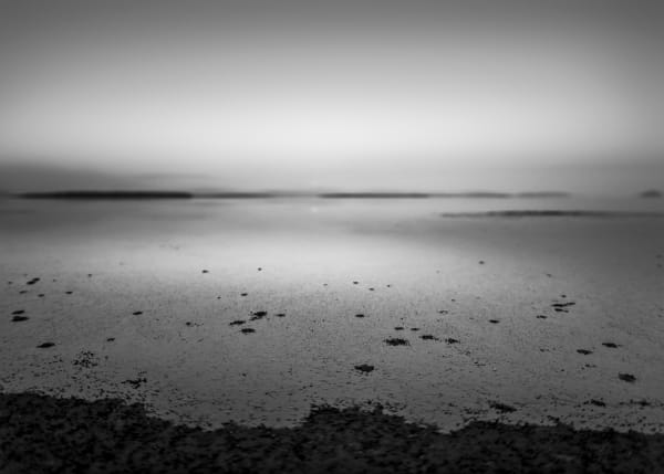Tide At Dusk #1 B&W Art | James Alfred Friesen
