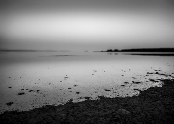 Tide At Dusk #2 B&W Art | James Alfred Friesen