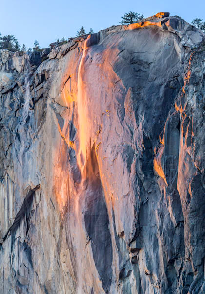 Steve Woodruff, Yosemite Firefall, photo, Horsehair Fall