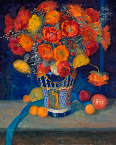 Poppies In A Talavera Vase  Art | B. Oliver, Art