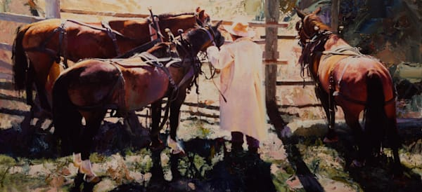Oleg Stavrowsky, art, paintings, draft horses