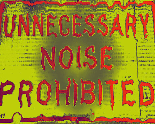 Unnecessary Noise Prohibited|Fine Art Photography by Todd Breitling|Graffiti and Street Photography|Todd Breitling Art|