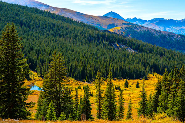 Mountain Valley In Autumn Photography Art by otoolephoto