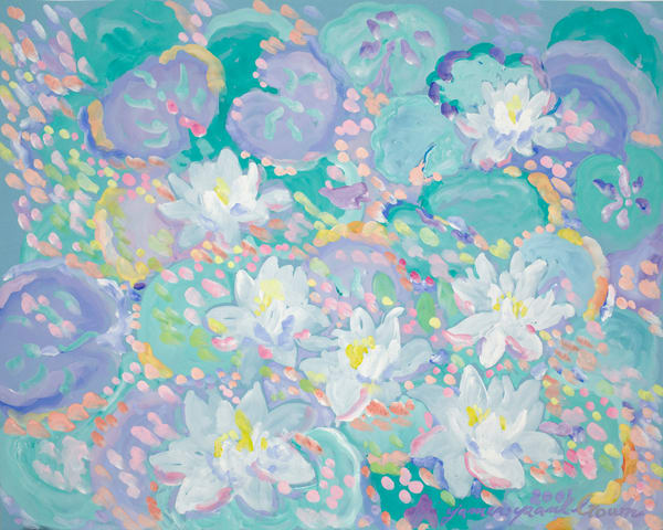 Lotus Flowers Art | Artiste Winery & Tasting Studio