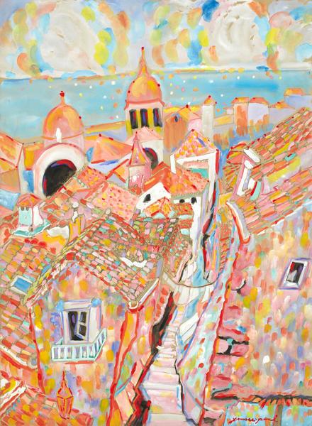 Mediterranean Village Art | Artiste Winery & Tasting Studio