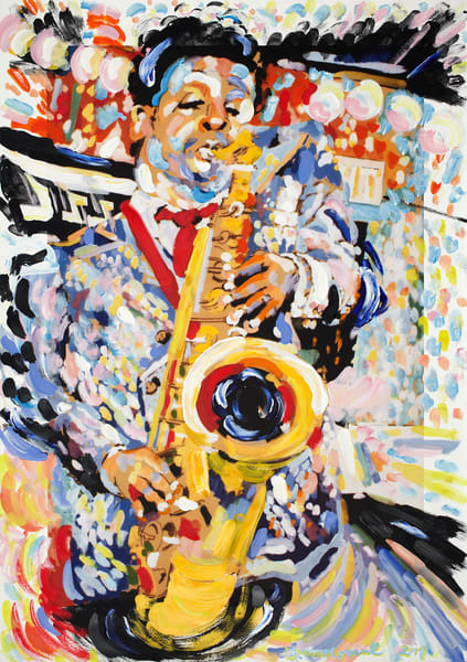 The Jazz Player Art | Artiste Winery & Tasting Studio