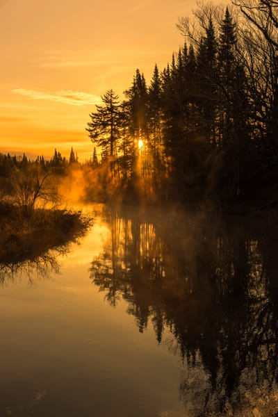 moosre river sunrise mist