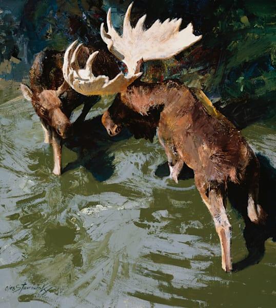 Moose Art | Lesa Delisi, Fine Arts