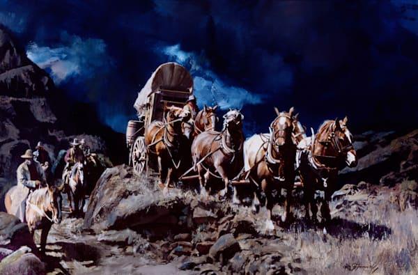 Night Scene Wagon Art | Lesa Delisi, Fine Arts