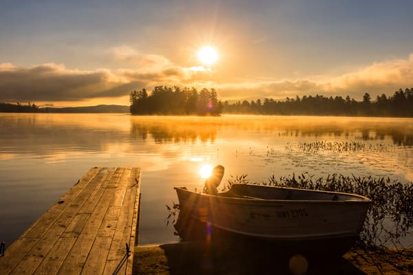 Raquette lake Sunrise Row Boat