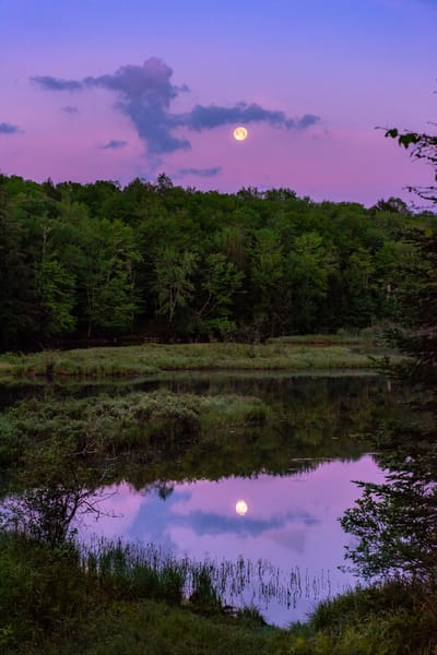Moon over the Moose River