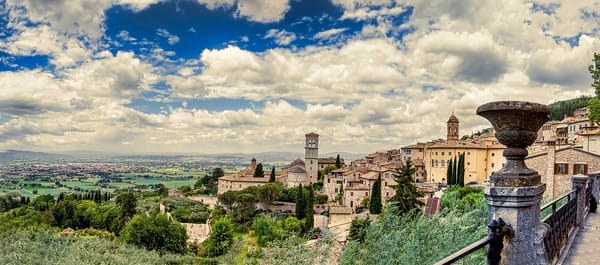 Art photography of Italy, from  Assisi Italy Landscape Panorama
