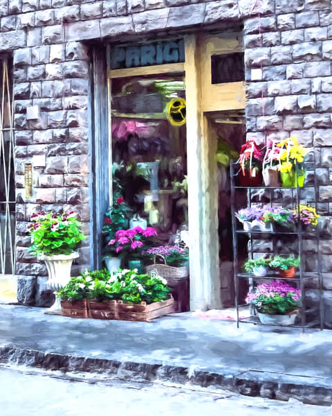 Art photography of Italy, DSC_5977 Flower Shop Florence, Italy MO