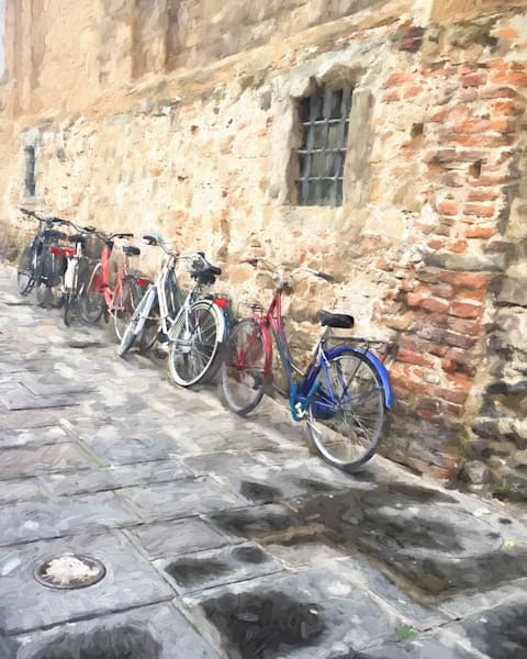 Art photography of Italy,  IMG_5324  Bicycles Against the Wall, Florence, Italy d