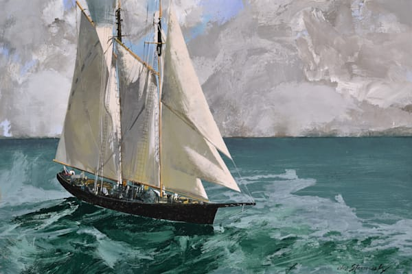 Sailboat On Sea Art | Lesa Delisi, Fine Arts